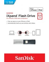 SanDisk iXPAND -flashdrive voor iPhone en iPad - 64 GB
