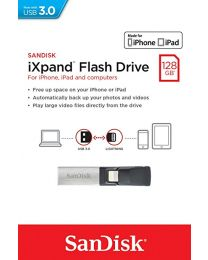 SanDisk iXPAND -flashdrive voor iPhone en iPad - 128 GB