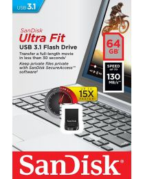 SanDisk Ultra Fit USB 3.1 Flash Drive - USB-flashstation - 64 GB