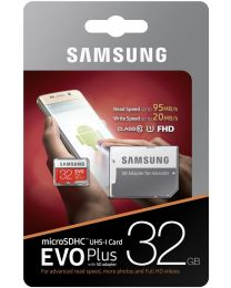 Samsung EVO Plus MB-MC32G - 32 GB - microSDHC-naar-SD-adapter inbegrepen