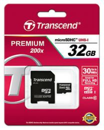 Transcend - 32 GB - microSDHC - Class 10 UHS-I - Inclusief SD adapter