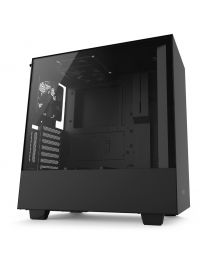 NZXT H500i Compact Mid-Tower with Lighting and Fan Control ATX - Tempered Glass - Matte Black