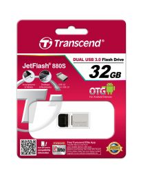 Transcend JetFlash 880 - USB-flashstation - 32 GB - USB 3.0 - zilver